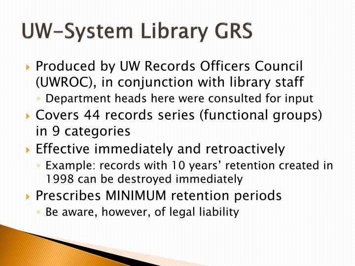 UW-System Library GRS
