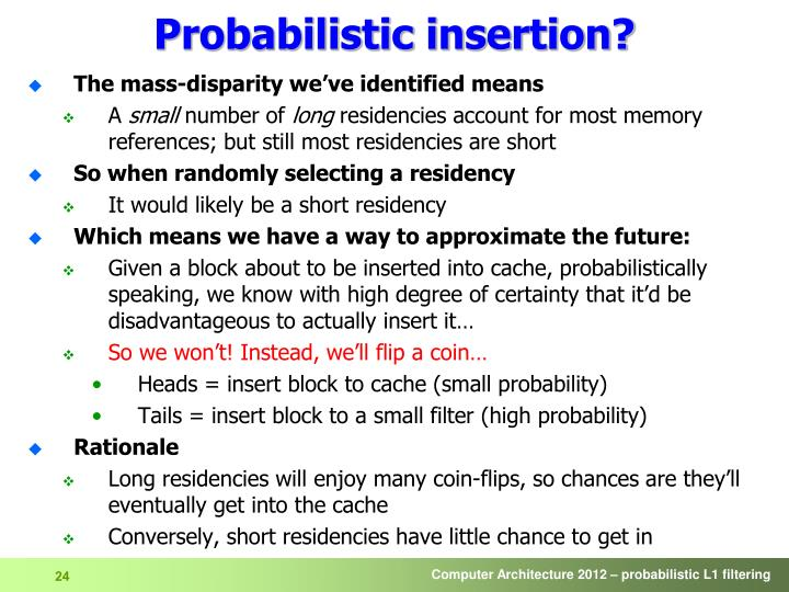 Probabilistic insertion?