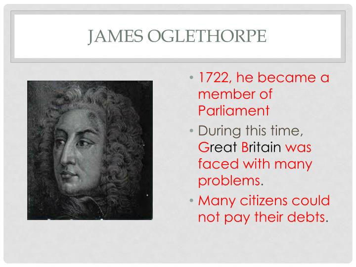 who is james oglethorpe and what did he do