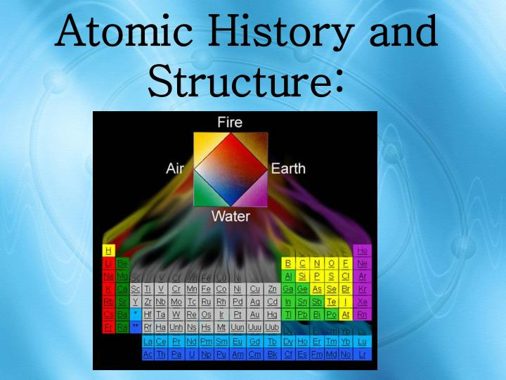 Atomic history and structure