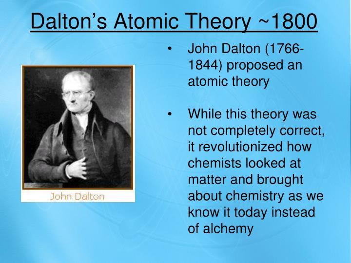 Dalton's Atomic