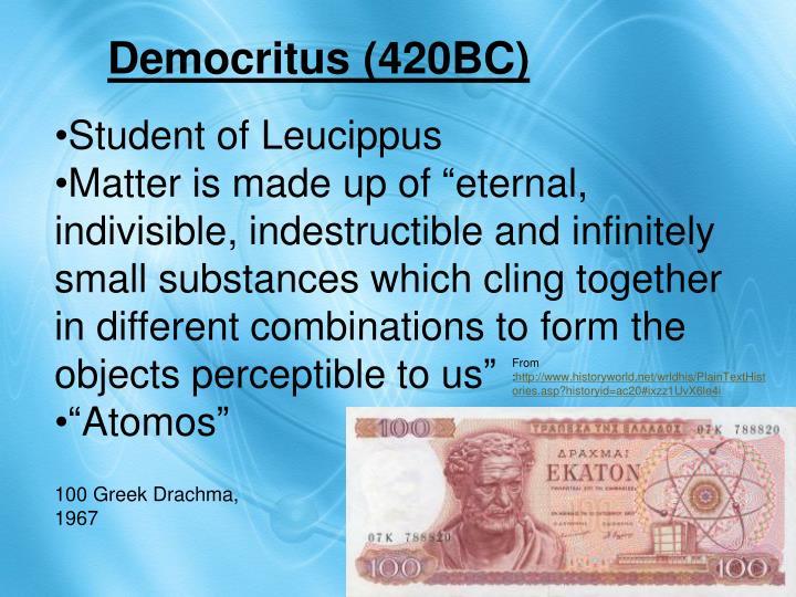 Student of Leucippus