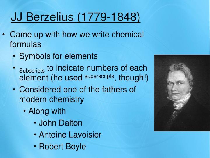 JJ Berzelius (1779-1848)