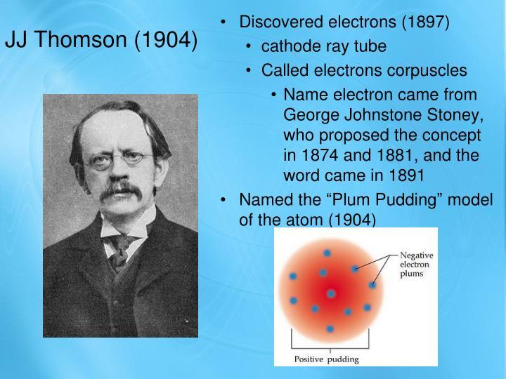 JJ Thomson (1904)