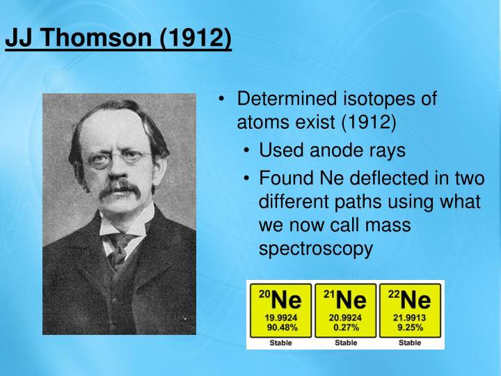 JJ Thomson (1912)