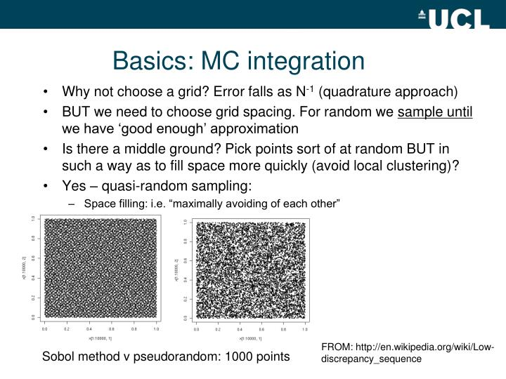 Basics: MC integration