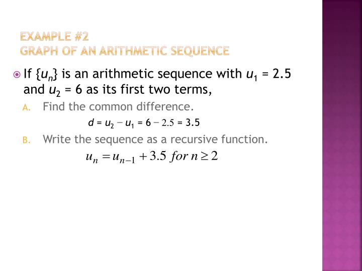Ppt - 1.3 Arithmetic Sequences Powerpoint Presentation - Id:2509089