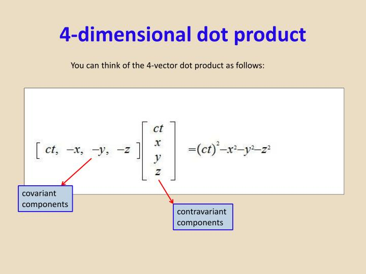 4-dimensional dot product