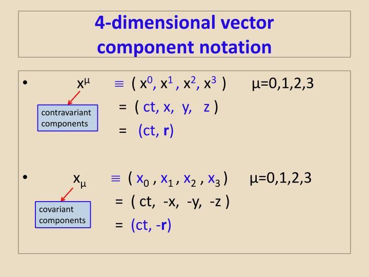 4-dimensional vector