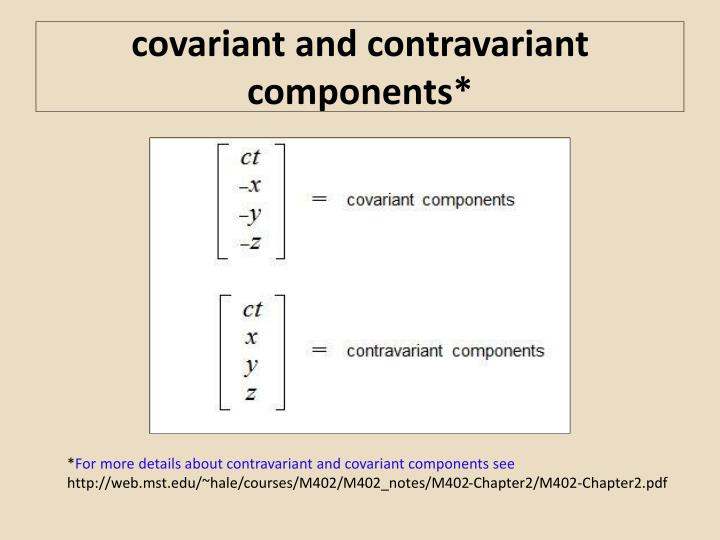 covariant and