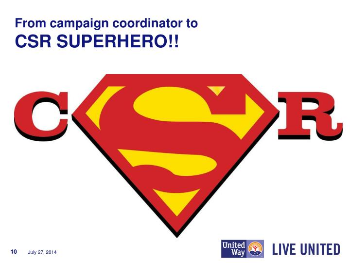 From campaign coordinator to