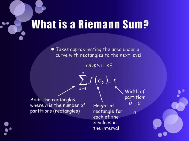 What is a riemann sum