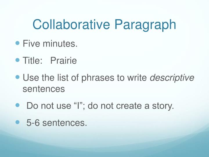 Collaborative paragraph
