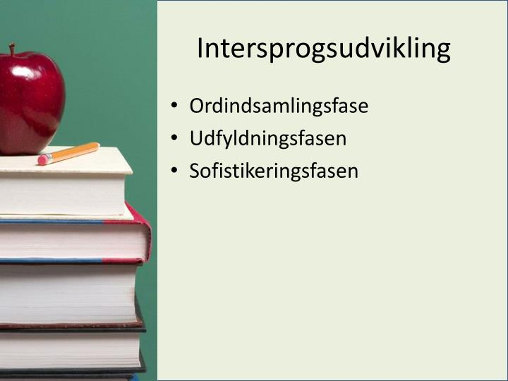 Intersprogsudvikling