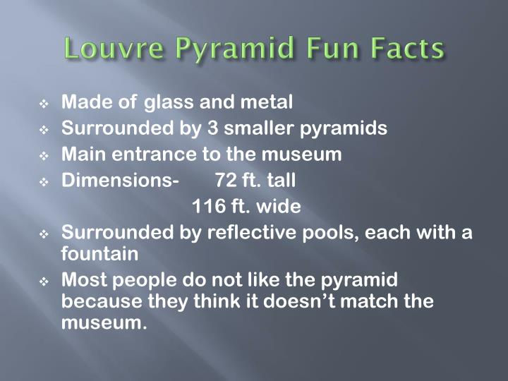 Louvre Pyramid Fun Facts