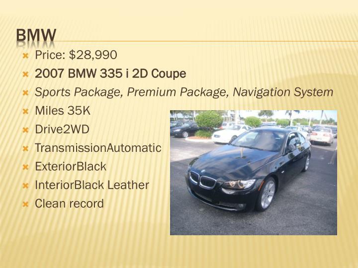 Price: $28,990