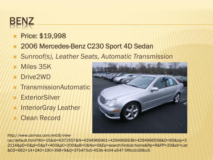 Price: $19,998