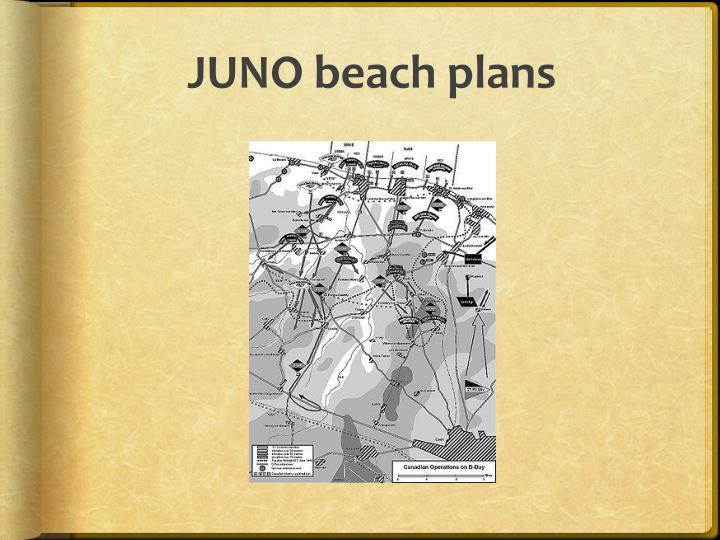 JUNO beach plans