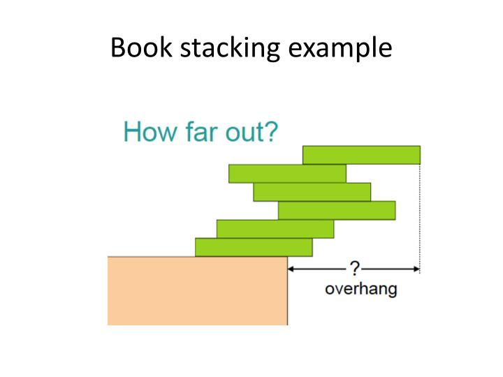 Book stacking example