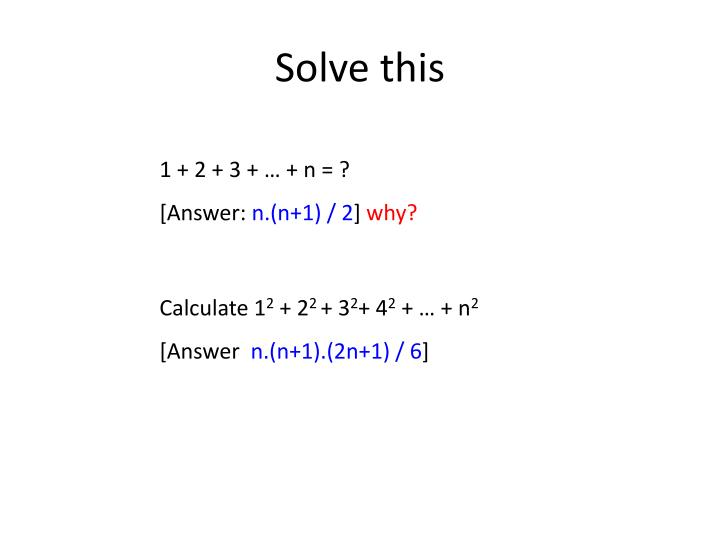 Solve this