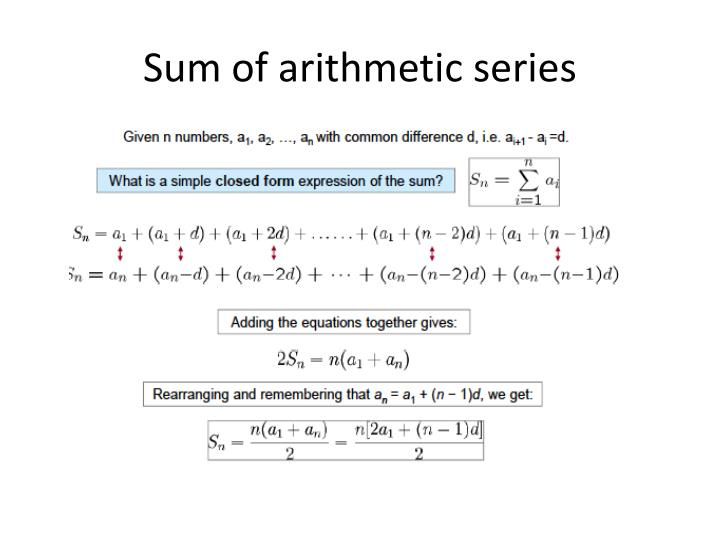 Sum of arithmetic series