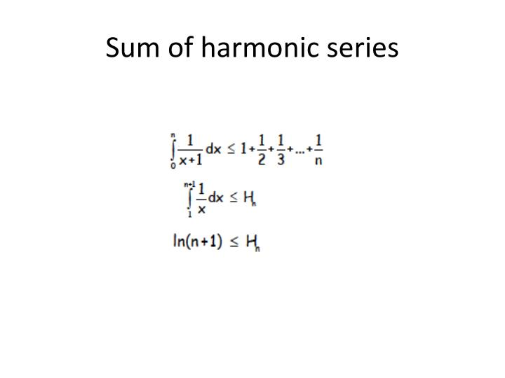 Sum of harmonic series