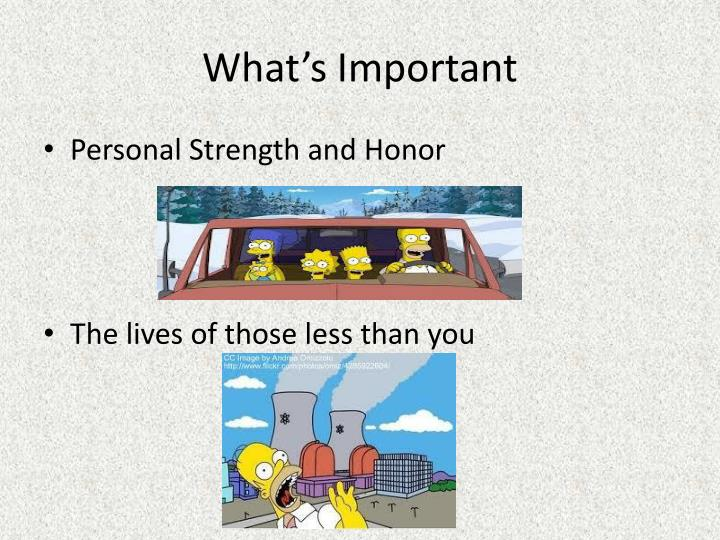 What's Important