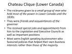 chateau clique lower canada