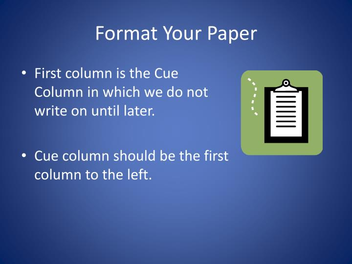 Format your paper