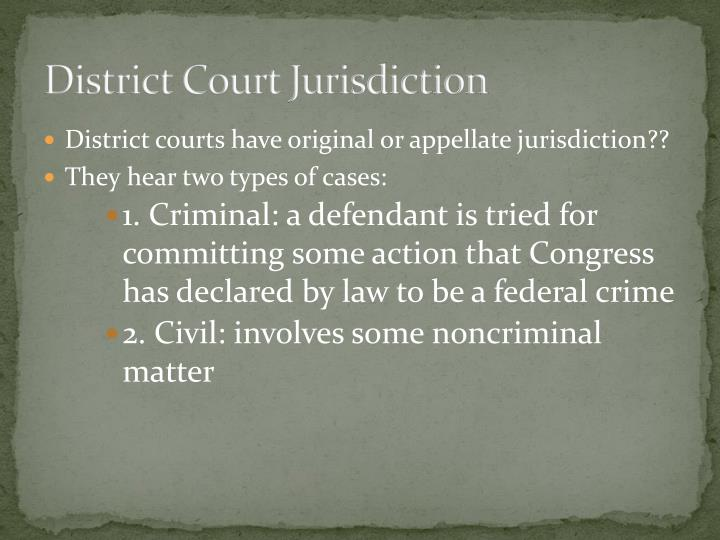 District Court Jurisdiction