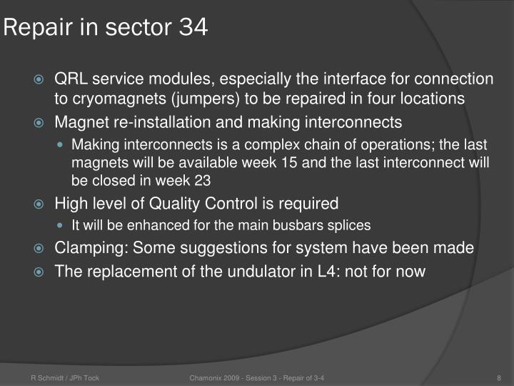 Repair in sector 34