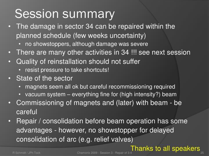 Session summary