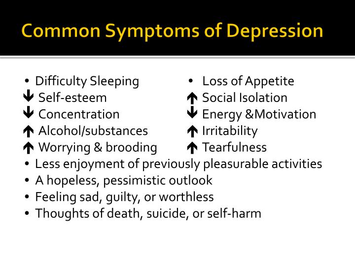 Common Symptoms of Depression