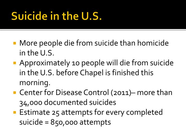 Suicide in the U.S.