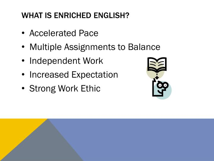What is enriched English?