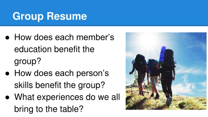 Group Resume