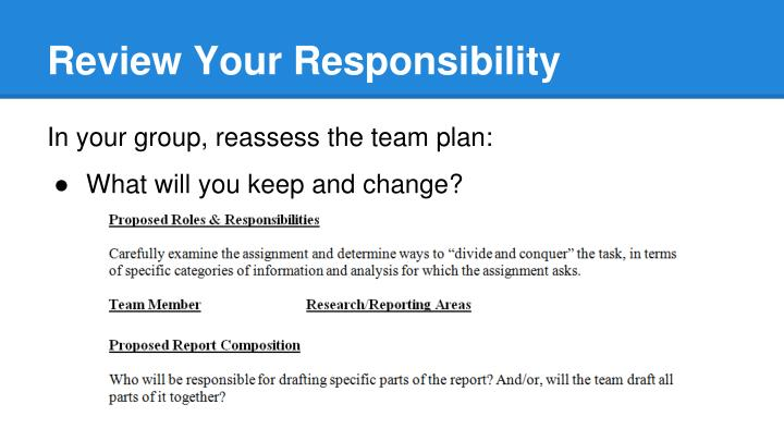 Review Your Responsibility