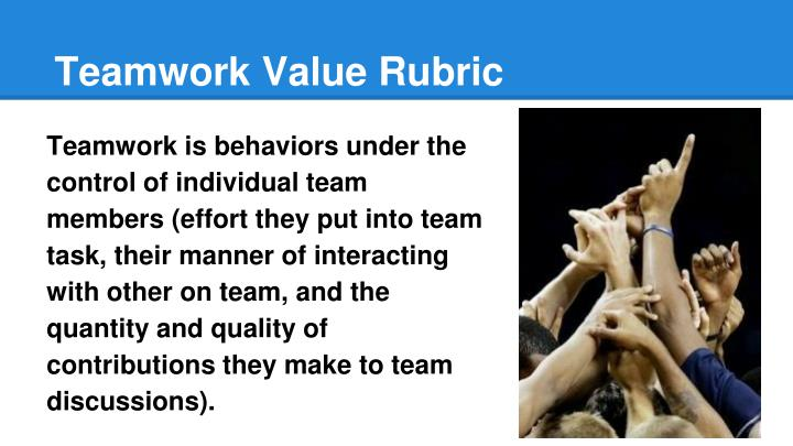 Teamwork Value Rubric