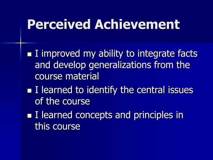 Perceived Achievement
