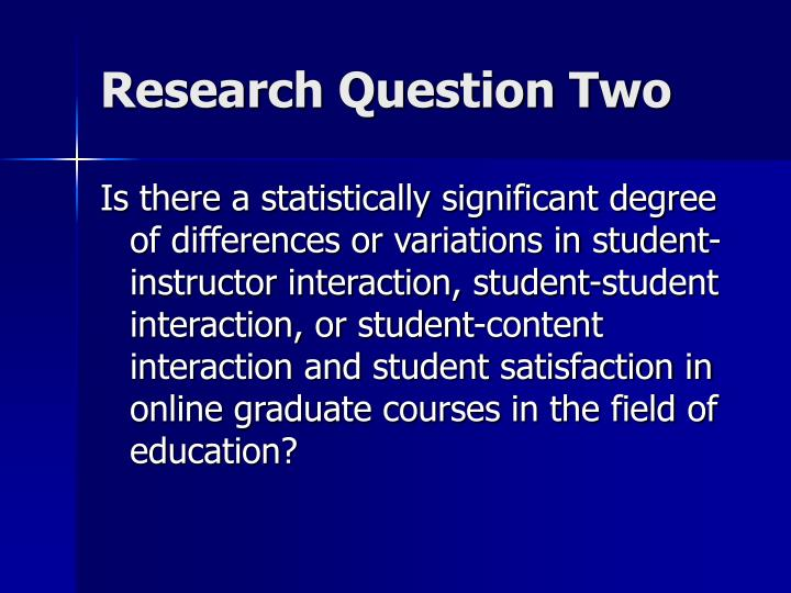 Research Question Two