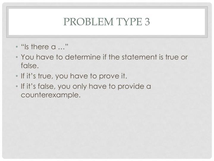 Problem type 3