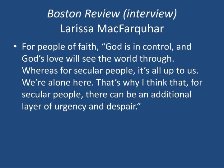 Boston Review (interview)