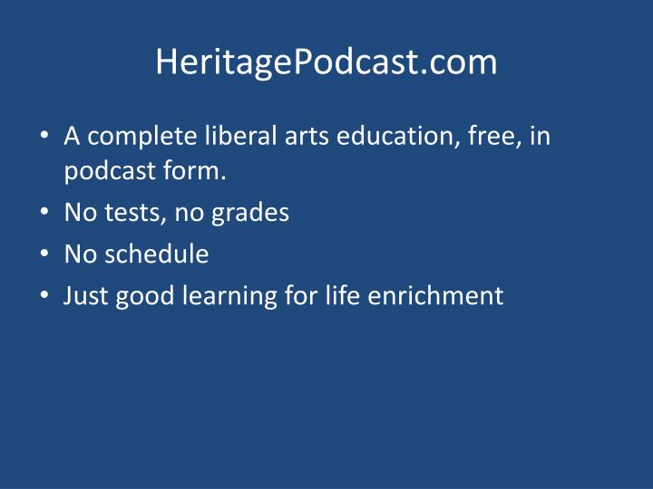 HeritagePodcast.com