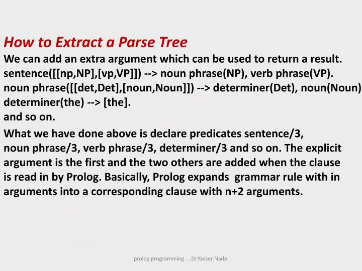 How to Extract a Parse Tree