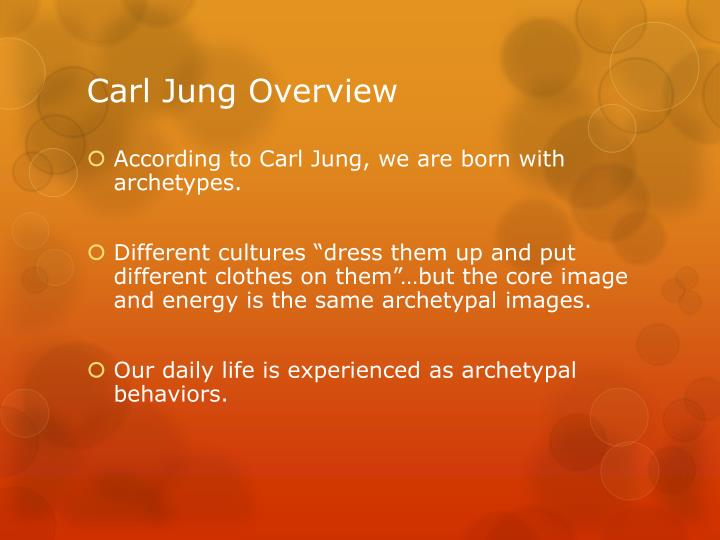 Carl Jung Overview