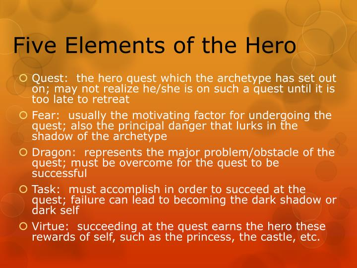 Five Elements of the Hero