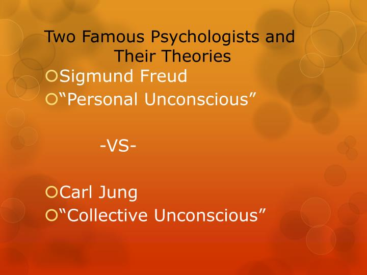 Two famous psychologists and their theories
