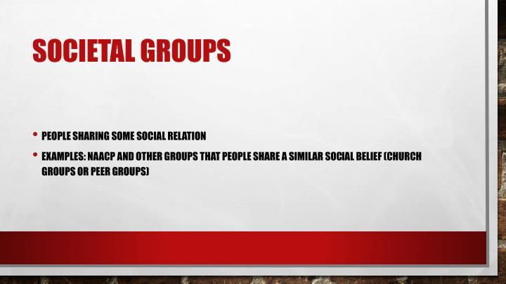Societal groups