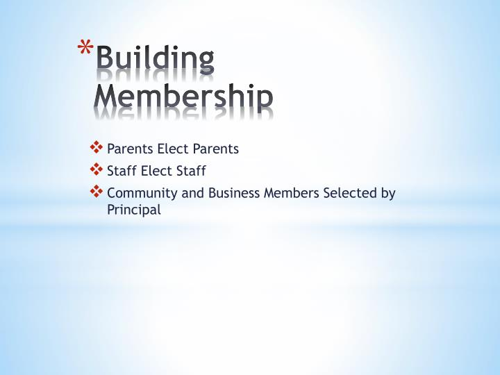 Building Membership