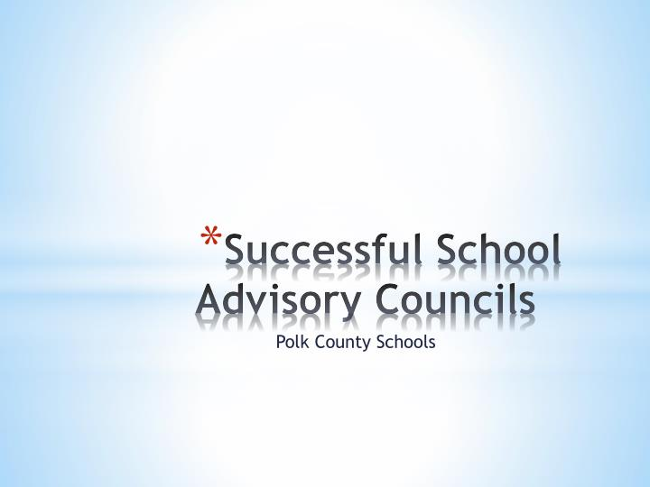 successful school advisory councils